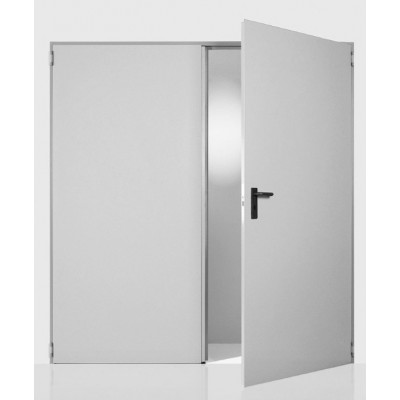 Πόρτα Δίφυλλη Μεταλλική Αποθήκης NINZ REVER, κλειστού τύπου