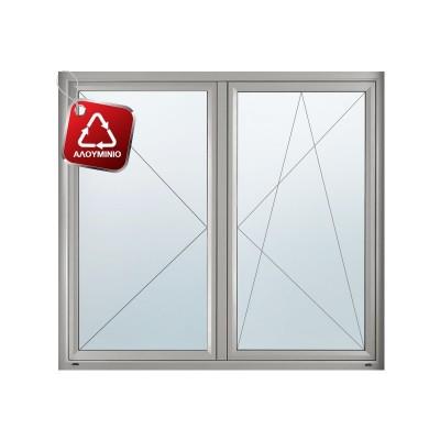 Παράθυρο Ανοιγόμενο Δίφυλλο ETEM Ε68 με υψηλή θερμομόνωση