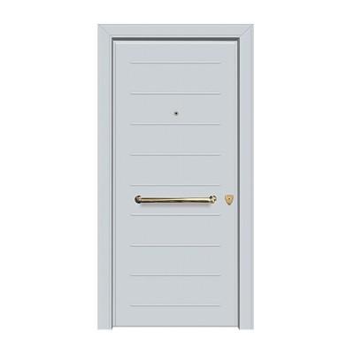 Μονόφυλλη Θωρακισμένη Πόρτα Εισόδου Αλουμινίου BALOMENOS-...