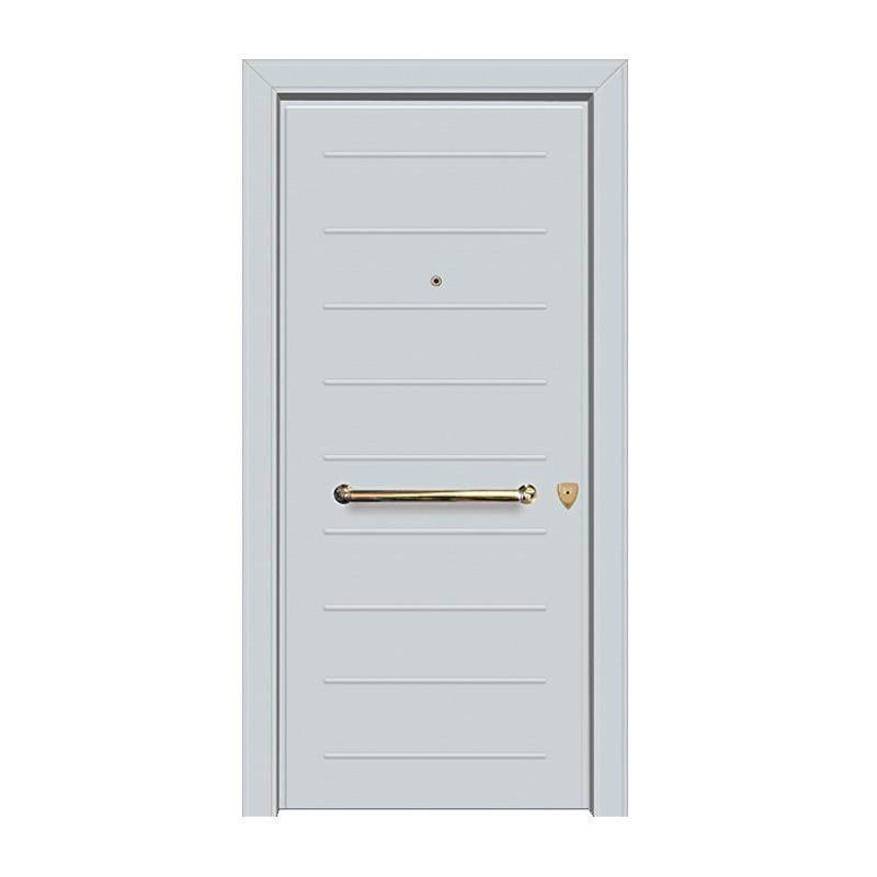 Μονόφυλλη Θωρακισμένη Πόρτα Εισόδου Αλουμινίου BALOMENOS- AXI HOME 3D