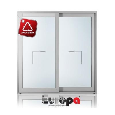 Παράθυρο Υψούμενο Συρόμενο Επάλληλο Δίφυλλο EUROPA