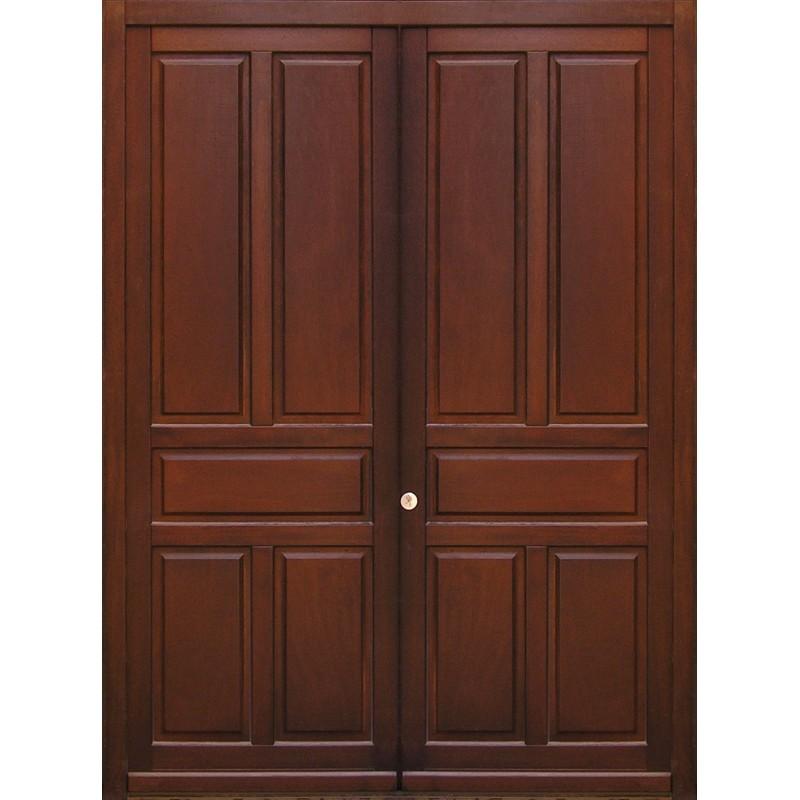 Ξύλινη Πόρτα Εισόδου Δίφυλλη Εξωτερική Windo68