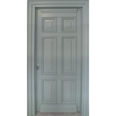 Ξύλινη Πόρτα Οικίας Παραδοσιακή Εξωτερική Windo68