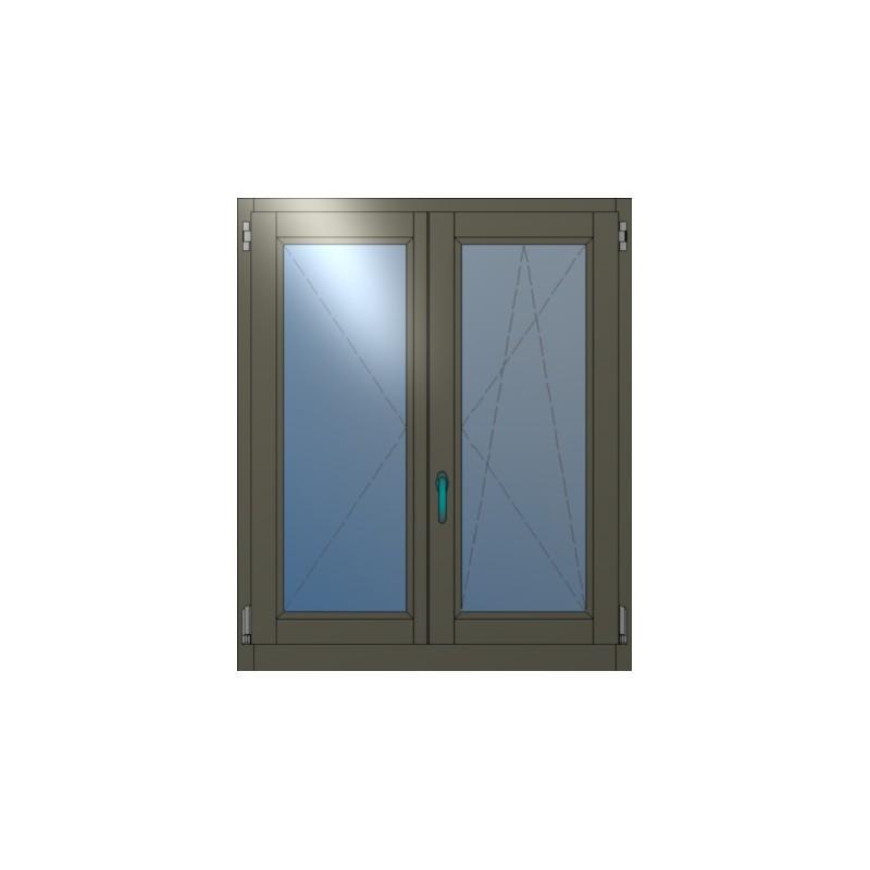 Ξύλινο Παράθυρο Ανοιγόμενο Δίφυλλο Winco68