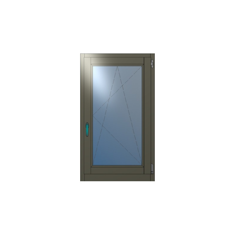 Ξύλινη Μπαλκονόπορτα Ανοιγόμενη Μονόφυλλη Winco68