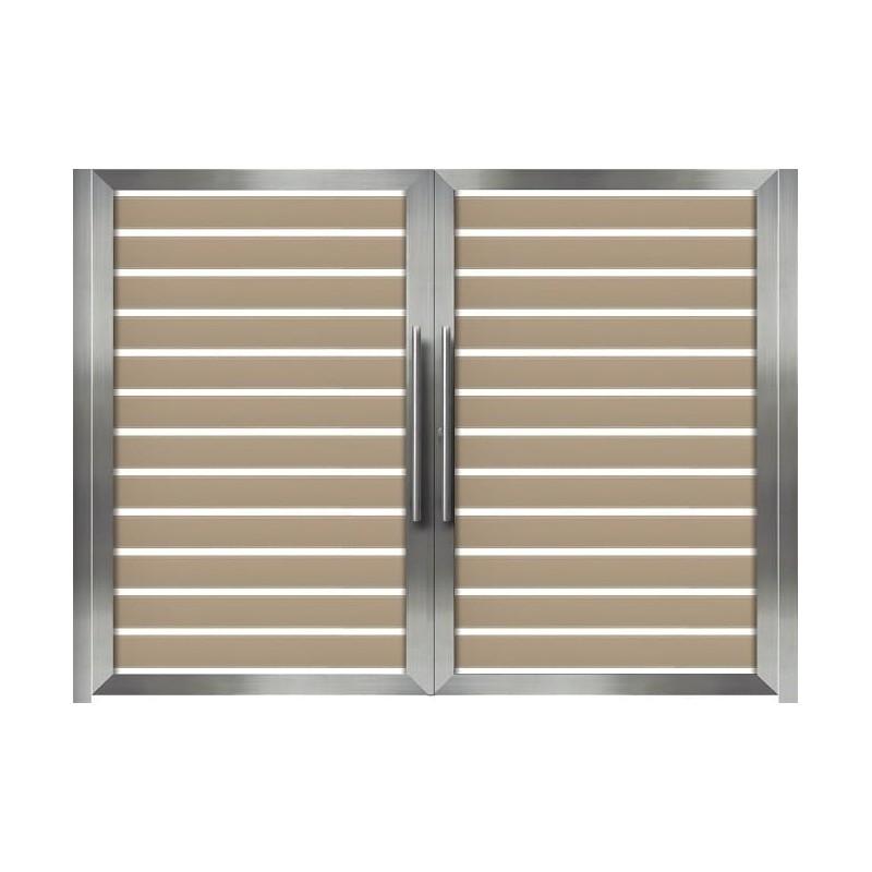 Αυλόπορτα ανοιγόμενη WINDO Style Gates m481