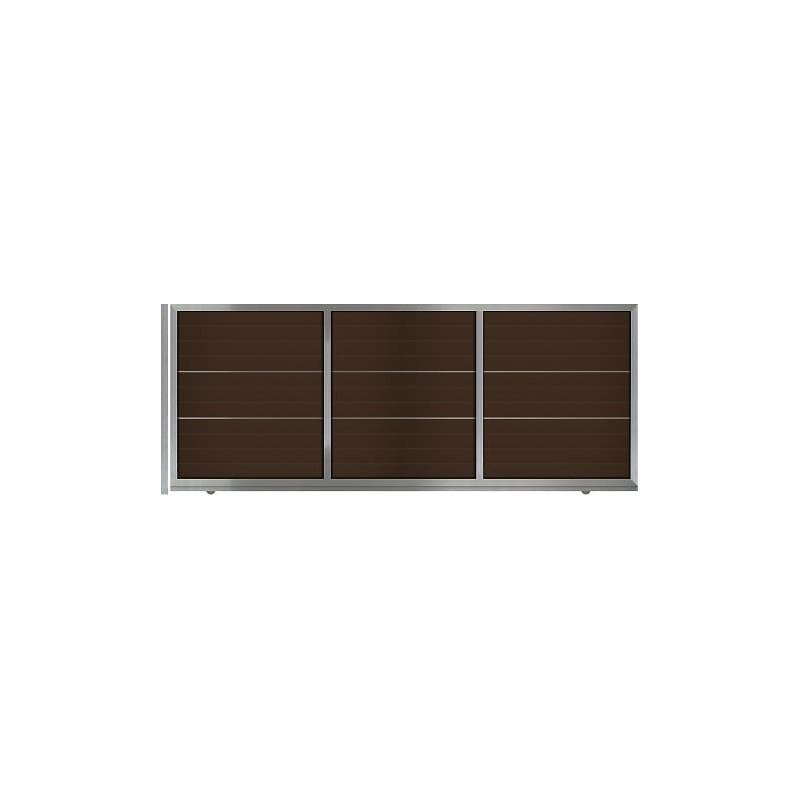 Αυλόπορτα συρόμενη WINDO Style Gates m490
